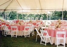 Tables & Linen in Tent